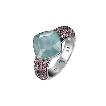 Joop women's ring silver zirconia Amazonite Kirsten JPRG90657A