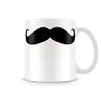 Printed Ceramic Mug Featuring Decorative Black Moustache TASH008 Ideal Gift
