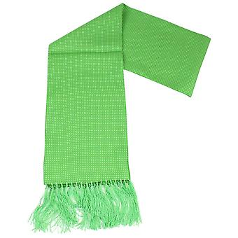 Knightsbridge Neckwear Pin Dot Dress Scarf - Bright Green