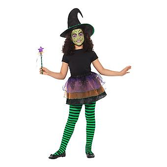 Ganske heks Kit, lue/Tutu/Wand, Halloween Fancy kjole, One Size