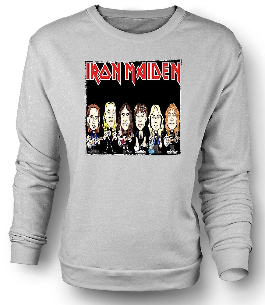 Mens Sweatshirt Iron Maiden - tegneserie Band