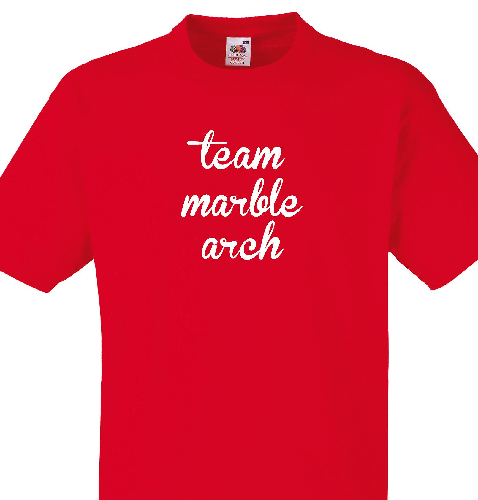 Team Marble arch Red T shirt