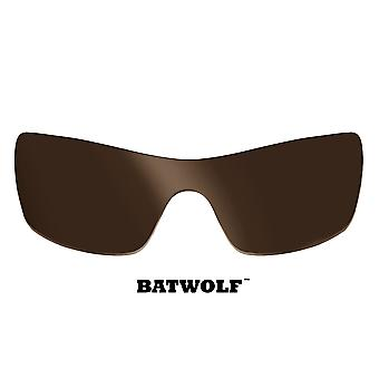 Batwolf Replacement Lenses Polarized Bronze Brown by SEEK fits OAKLEY Sunglasses