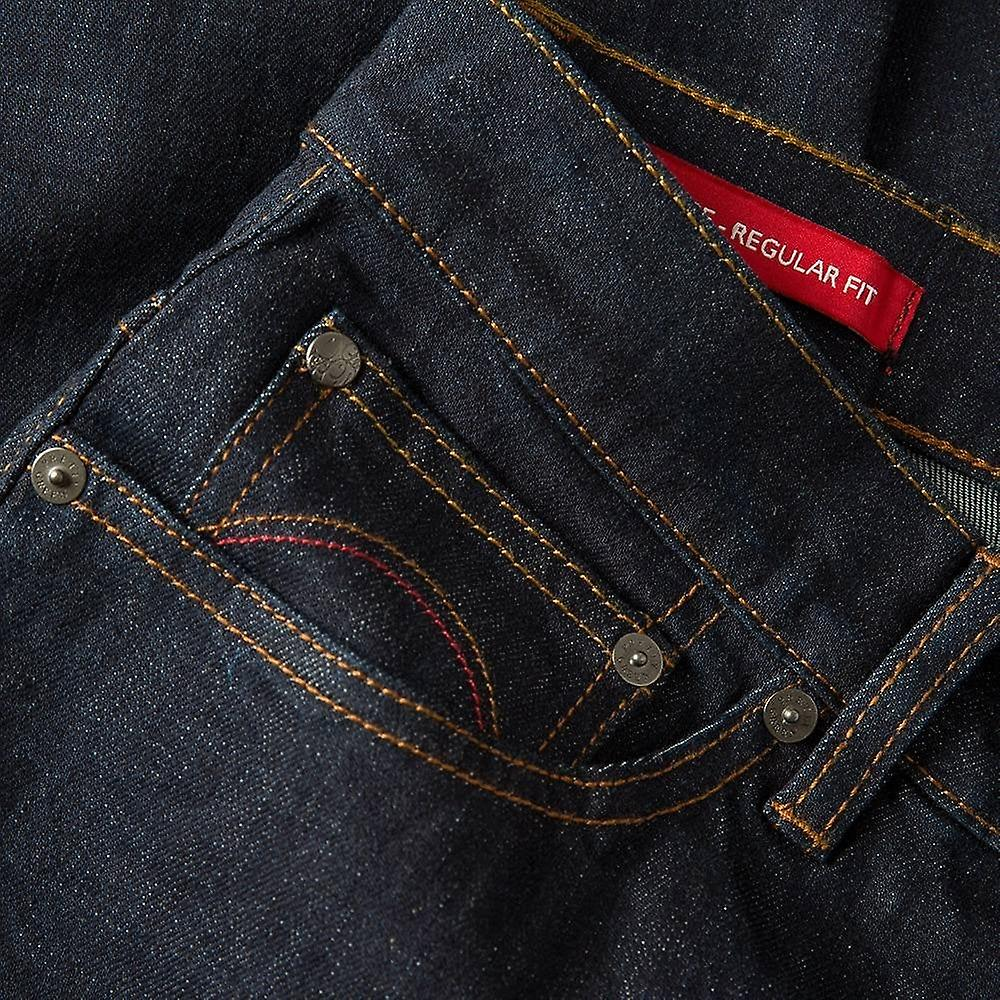 Pretty Green Burnage Regular Fit Dark Wash Jeans