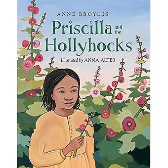 Priscilla et les roses trémières