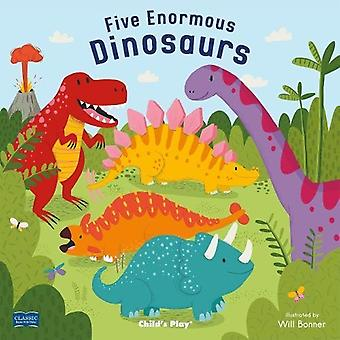 Five Enormous Dinosaurs (Classic Books with Holes Soft Cover)
