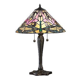 Ashton Medium Tiffany Style bordslampa - interiör 1900 69325
