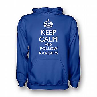 Keep Calm And Follow Rangers Hoody (blue)
