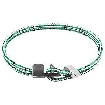 Anchor and Crew Brixham Dash Rope Bracelet - Green/White