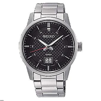 Seiko Mens Quartz analog watch with stainless steel band SUR269P1