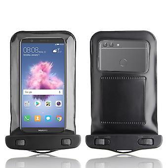 InventCase Waterproof Dustproof Bag Protective Case Cover for Huawei P Smart - Black