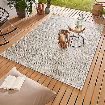 Design Outdoorteppich Web carpet flat weave | Pine cream taupe