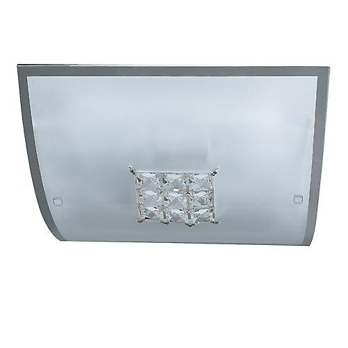 Searchlight 2150-30 Quadrex Modern Square Flush Ceiling Light With Crystal Detail