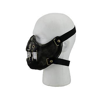 Black Distressed Restraint Style Half Face Mask