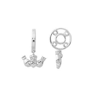 Storywheels Silver Claddagh Dangle Charm S179
