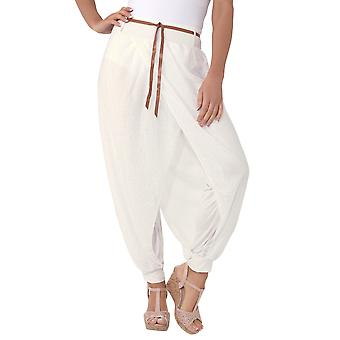 KRISP  Womens Boho Wrap Over Genie Baggy Casual Summer Harem Trousers Pants Leggings