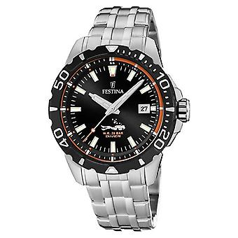 Festina | Mens Divers | Stainless Steel Bracelet | Black Dial | F20461/3 Watch