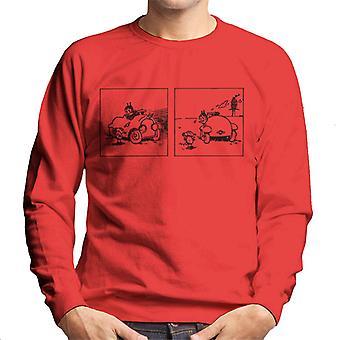 Krazy Kat Car Scene Men's Sweatshirt