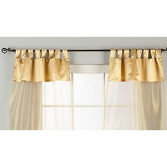 Golden Tab Top Sheer Tissue Curtain / Drape / Panel - 84