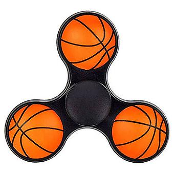 Hand Spinner 3D Basketbal in Zwart