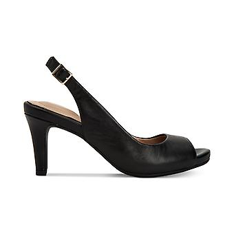 Giani Bernini Womens Laycee Leather Peep Toe SlingBack Classic Pumps