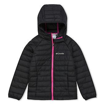 Columbia Powder Lite Girls Junior  Hooded Jacket | Black
