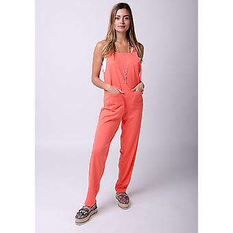 Mabel jersey jumpsuit in coral