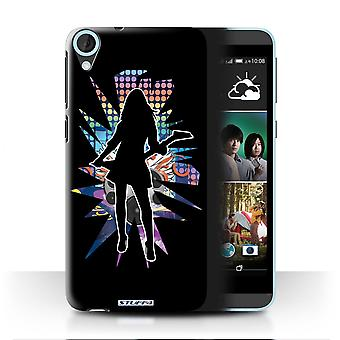 STUFF4 Case/Cover for HTC Desire 820s Dual/Rock Chick Black/Rock Star Pose