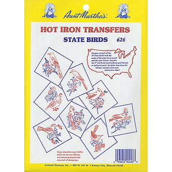 Aunt Martha's Iron On Transfer Collections 50 State Birds Tpc 626