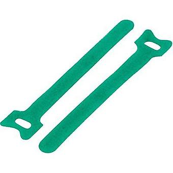 Hook-and-loop cable tie for bundling Hook and loop pad (L x W) 310 mm x 16 mm Green KSS MGT-310GN 1 pc(s)
