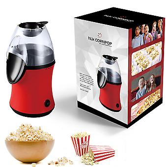 HLix CORNPOP - Hot Air Popcorn Maker in 3 Minutes 1100W Grease and Oil Free For Fresh & Fat-Free Popcorn - Includes 10 Popcorn Boxes - RED