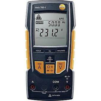 Handheld multimeter digital testo Digital Multimeter - testo 760-1 Calibrated to: Manufacturer standards CAT III 600 V,