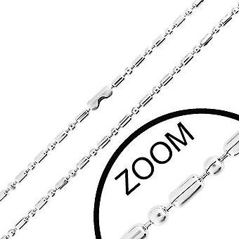 Urban Male Stainless Steel 1.5mm Military Style Chain 16in Long