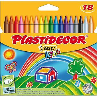 Bic Plastidecor 18 Colors (Toys , School Zone , Drawing And Color)