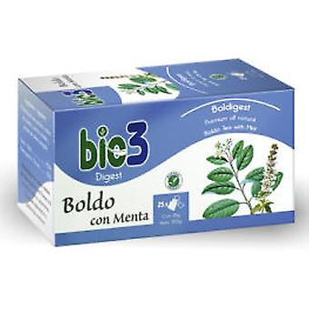 Bio3 Boldo and Mint 25 Sachets (Vitamine e supplementi , Integratori speciali)