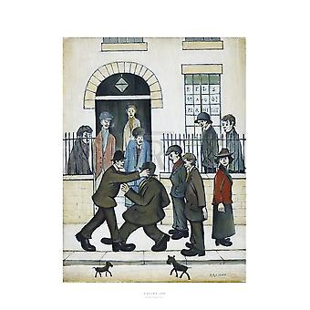 A Fight c1935 Poster Print by LS Lowry (20 x 24)