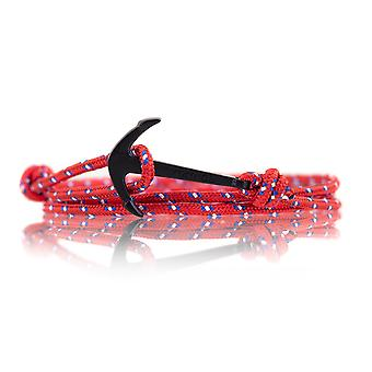 Vikings black-line anchor strap nylon in red with black anchor