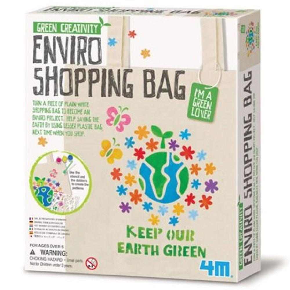 Stor dimser 4M grøn kreativitet Enviro Shopping taske