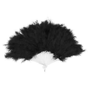 Boland BV Black Feathered Flapper Fan Fancy Dress Accessory 25cm