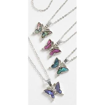 Abalone Butterfly Necklace - 1 Necklace Supplied
