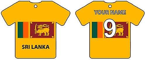 Personalised Sri Lanka Flag Jersey Car Air Freshener