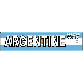 Argentine Way Street Sign Car Air Freshener