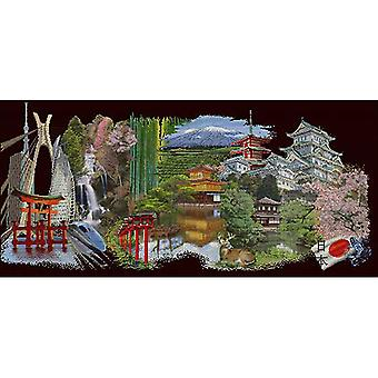Japan Black Edition On Aida Counted Cross Stitch Kit-31