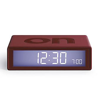 Dark Red Lexon Flip Alarm Clock