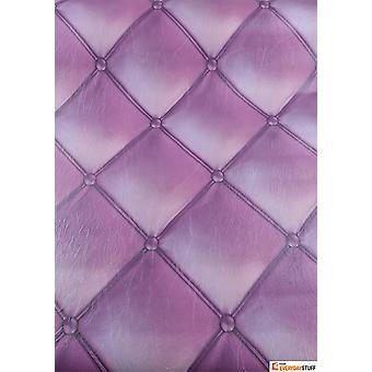 Headboard Wallpaper Cushioned Leather Faux Luxury Paste The Wall Purple