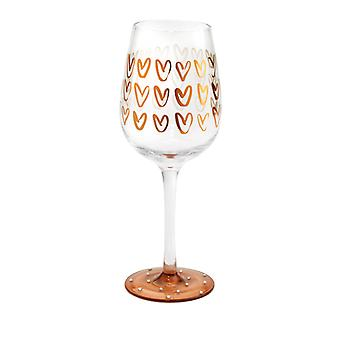 Here's To You Heart to Heart Wine Glass