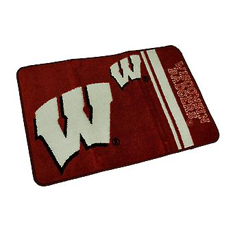 Officially Licensed Wisconsin Badgers Non-Skid Throw Rug 20 x 30 inch