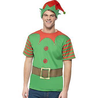 Elfenkostüm Elfe Kostüm Set Weihnachten Elfenset Herren Gr. M