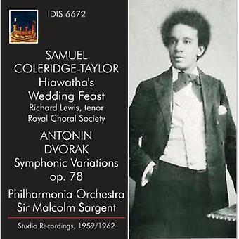 Coleridge-Taylor/Dvorak - Samuel Coleridge-Taylor: Hiawathas bryllup fest; Dvorak: Symfoniske variationer [CD] USA importerer