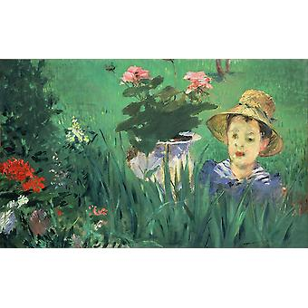 Edouard Manet - Boy in Flowers Poster Print Giclee